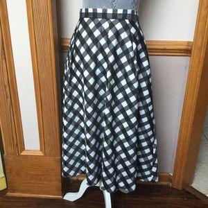 Checkered taffeta skirt